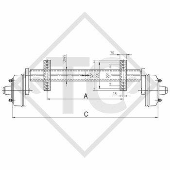 Braked axle 2750kg PLUS axle type B 2700-3