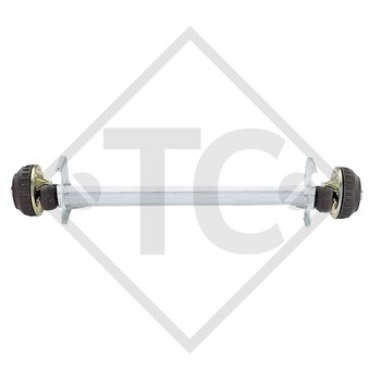 Braked axle 1300kg EURO COMPACT axle type B 1200-5