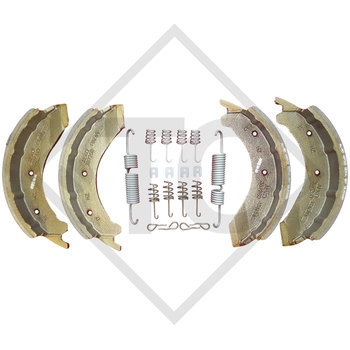 Brake shoes, wheel brake 3081A, 3081B and 3081AR, brake size 300x80mm
