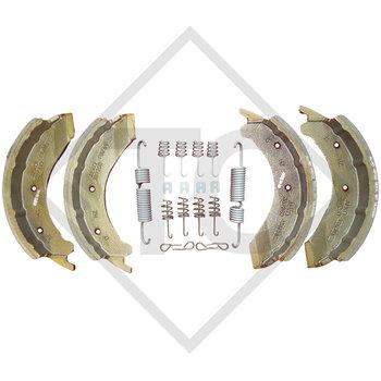 Brake shoes, wheel brake 3081A, 3081B and 3081AR, brake size 300x80mm