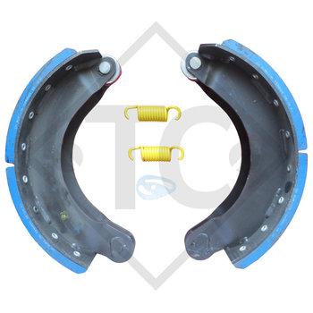 Brake shoes, wheel brake 406x140 - 414S - WA, brake size 406x140mm
