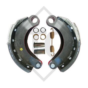 Brake shoes, wheel brake 300x135 - 314E - KB, brake size 300x135mm
