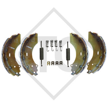 Brake shoes, wheel brake 2361 with deflection 90°, for lowering axles, brake size 230x60mm