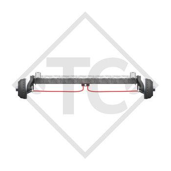 Achse gebremst 1050kg BASIC Achstyp CB1050 mit AAA (Automatische Nachstellung der Bremsbeläge)