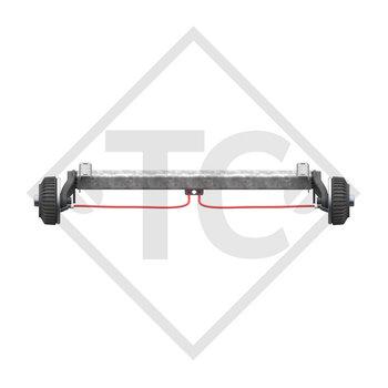 Tandem Hinterachse gebremst 1500kg BASIC Achstyp CB1500 mit AAA (Automatische Nachstellung der Bremsbeläge)