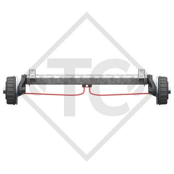 Tandem Hinterachse gebremst 1800kg BASIC Achstyp CB1800 mit AAA (Automatische Nachstellung der Bremsbeläge)