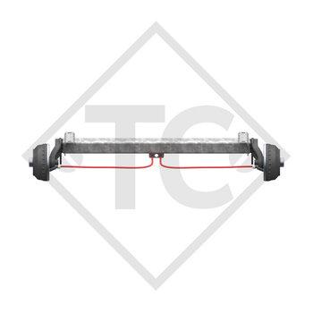 Achse gebremst 1350kg BASIC Achstyp CB1350 mit AAA (Automatische Nachstellung der Bremsbeläge)