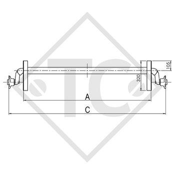 Achse ungebremst 750kg OPTIMA Achstyp 700-5, THULE