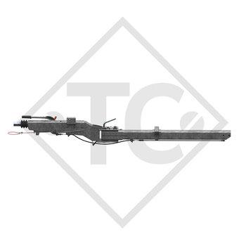 Auflaufeinrichtung vierkant Typ 2,8 VB/1-C - K35-S mit Deichselprofil seitlich schwenkbar 2500 bis 3500kg