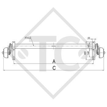 Achse gebremst 1350kg EURO COMPACT Achstyp B 1200-6
