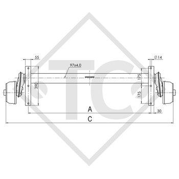 Achse gebremst 1500kg EURO COMPACT Achstyp B 1600-3