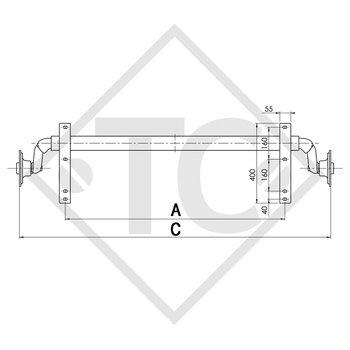 Achse ungebremst 750kg PLUS OPTIMA Achstyp 700-5