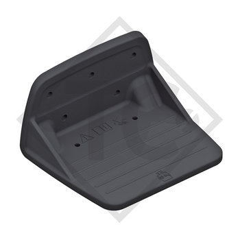 Support step RAL colour similar to black RAL 9017