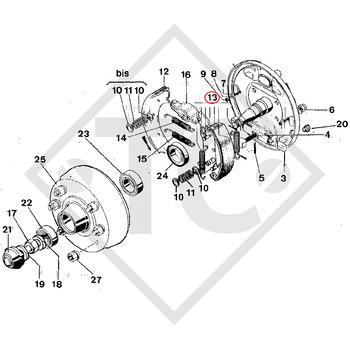 Brake shoes, wheel brake F306 brake size 300x50mm