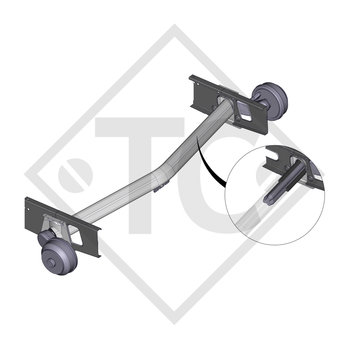 Braked axle 2000kg EURO1 axle type DELTA SI 18-3 with AAA (automatic adjustment of the brake pads)