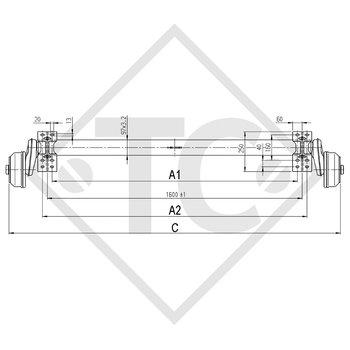 Achse gebremst 1300kg COMPACT Achstyp B 1200-5