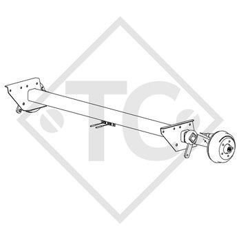 Braked axle 1350kg SWING axle type CB 1355, 46.24.379.501