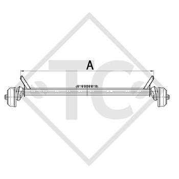Achse gebremst 1000kg EURO Compact Achstyp B 850-10
