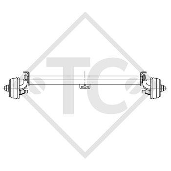 Achse gebremst 750kg BASIC Achstyp B 700-5