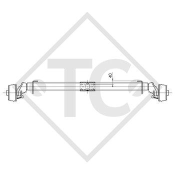 Achse gebremst 750kg EURO1 Achstyp B 850-2 - HYMER Pan/Familia