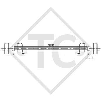 FTF Achse gebremst 650kg Achstyp B 700-3 - ERIBA-HYMER Eribelle FAS