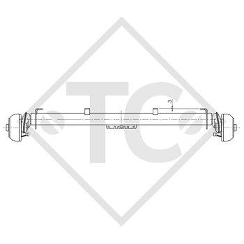 Achse gebremst 1300kg COMPACT Achstyp B 1200-5 Brenderup