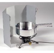 Lichtgewicht kook-windscherm (aluminium - opvouwbaar)