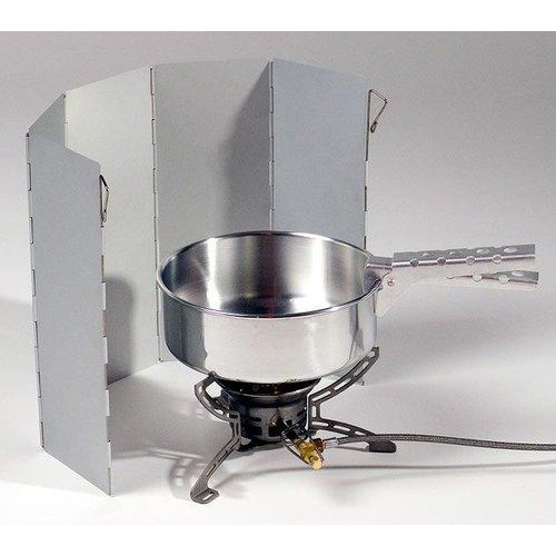Lichtgewicht kookwindscherm (aluminium - opvouwbaar)