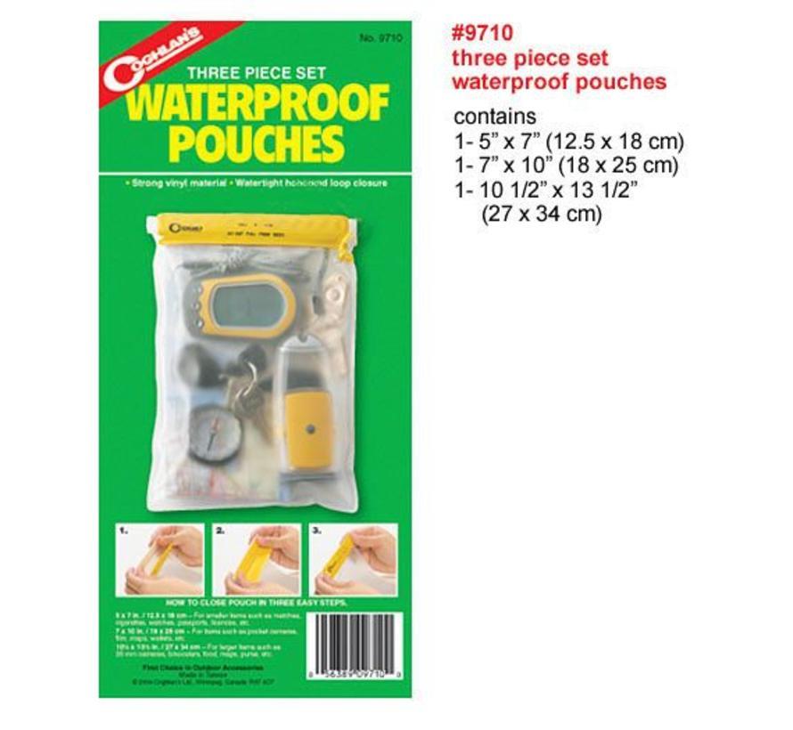 Coghlans Waterproof Pouches (set met drie maten)