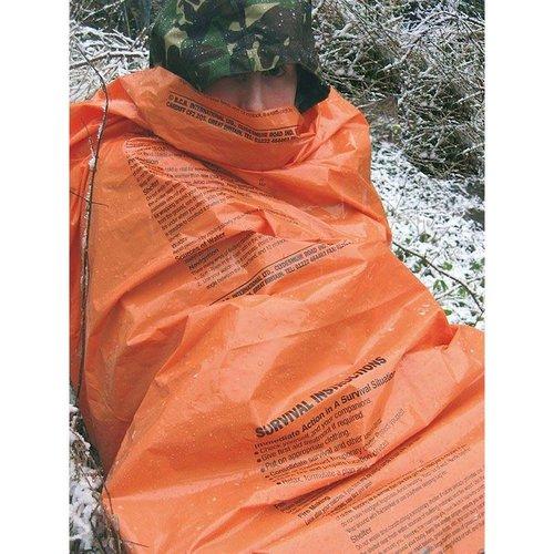 BCB Bushcraft Emergency Survival Bivi Bag met survival-instructies (fel-oranje overlevingszak)