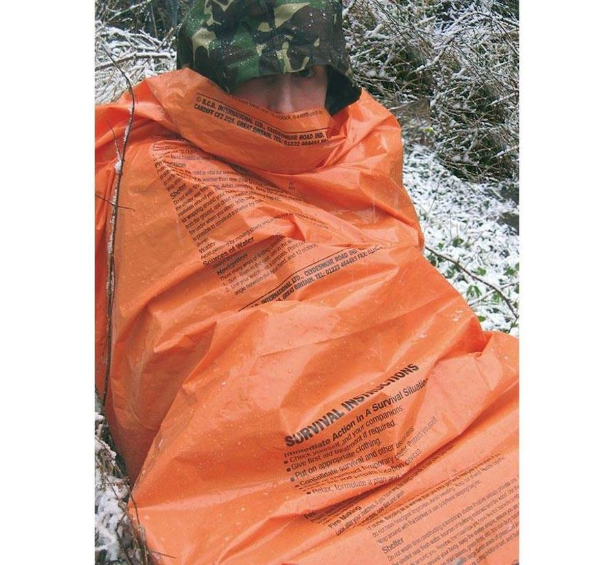 Bushcraft Printed Survival Bag (fel-oranje overlevingszak)