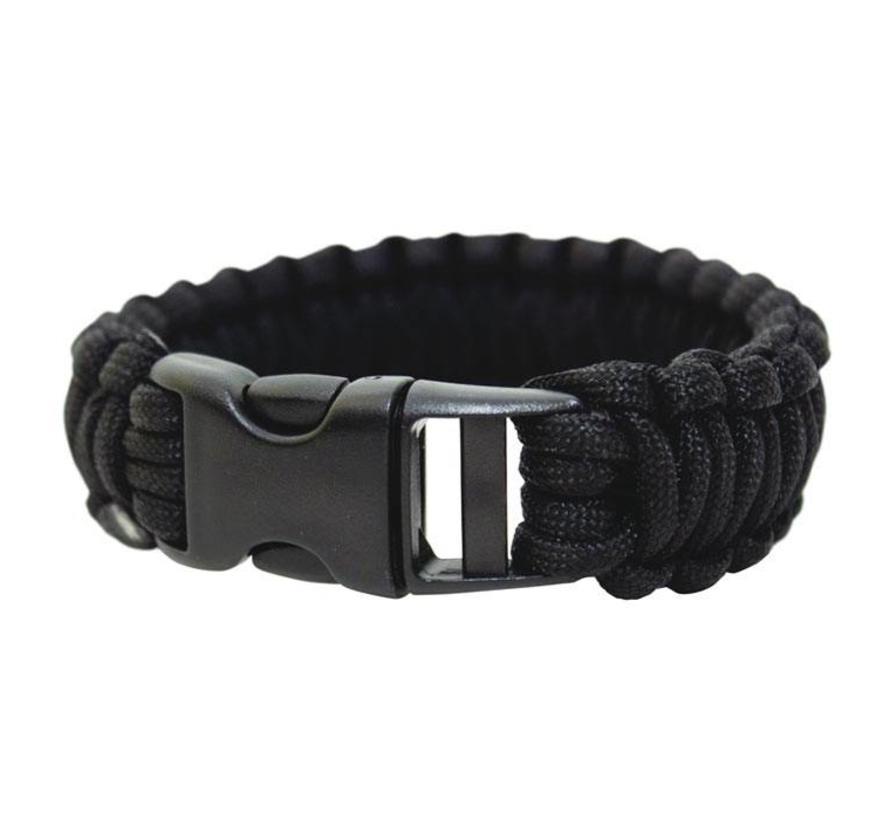 "Bushcraft Paracord Bracelet 9"", armband (zwart)"