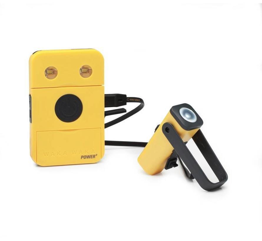WakaWaka Power+ 3000mAh Powerbank en Led-verlichting (geel)