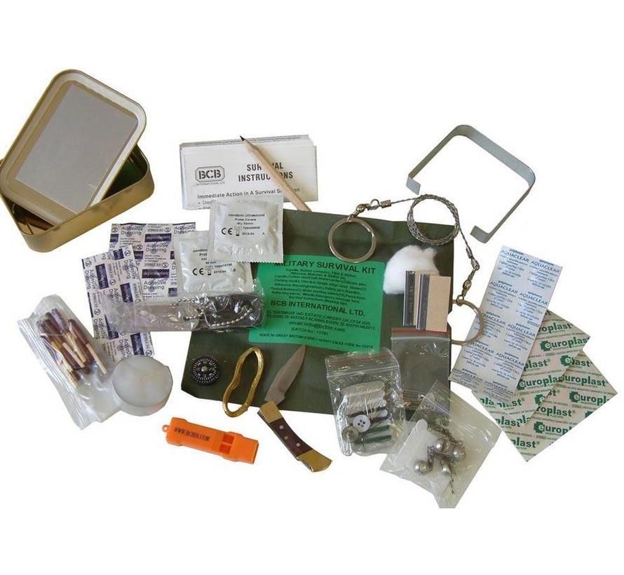 Bushcraft Military Survival Kit (25-delige overlevingskit - hersluitbaar)
