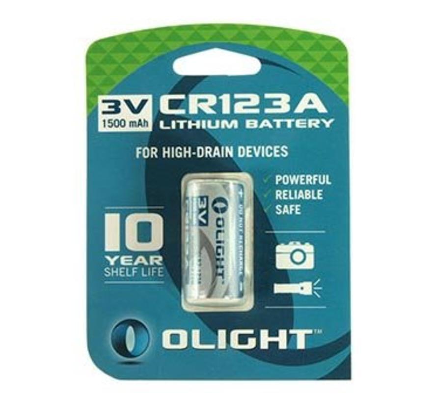 Olight CR123A Lithium batterij (3V 1600mAh)
