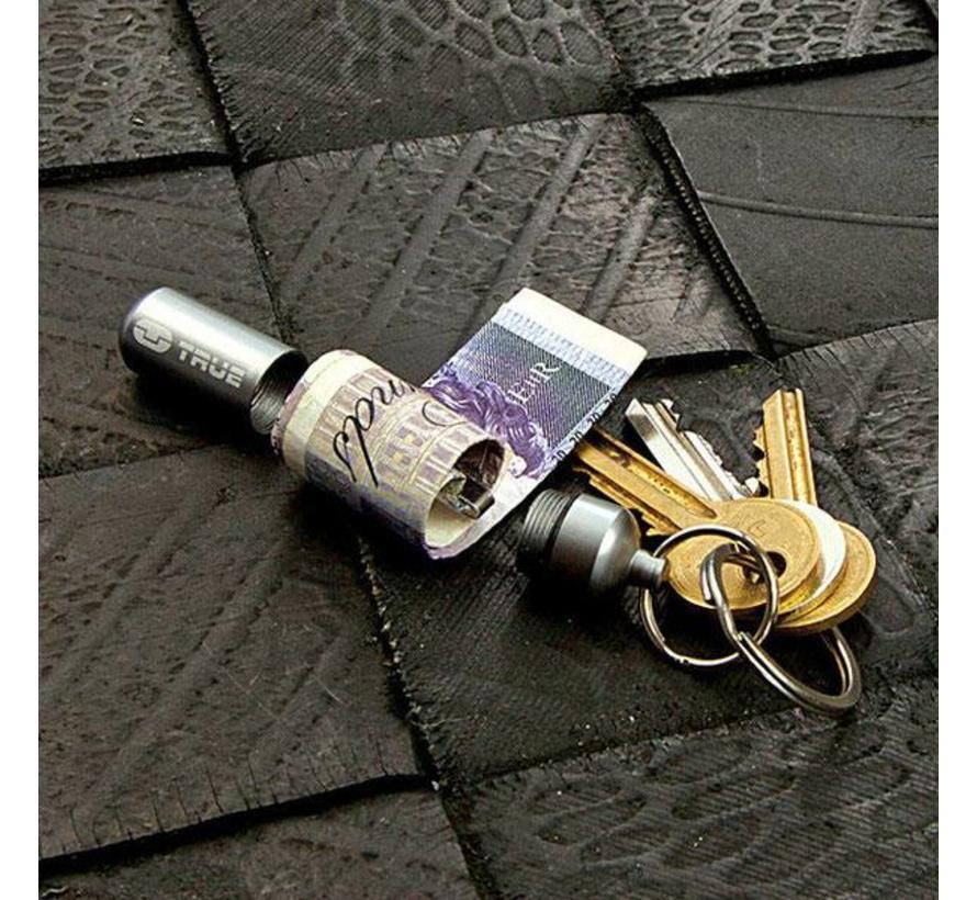 True Utility CashStash (sleutelhanger-capsule voor bankbiljetten)