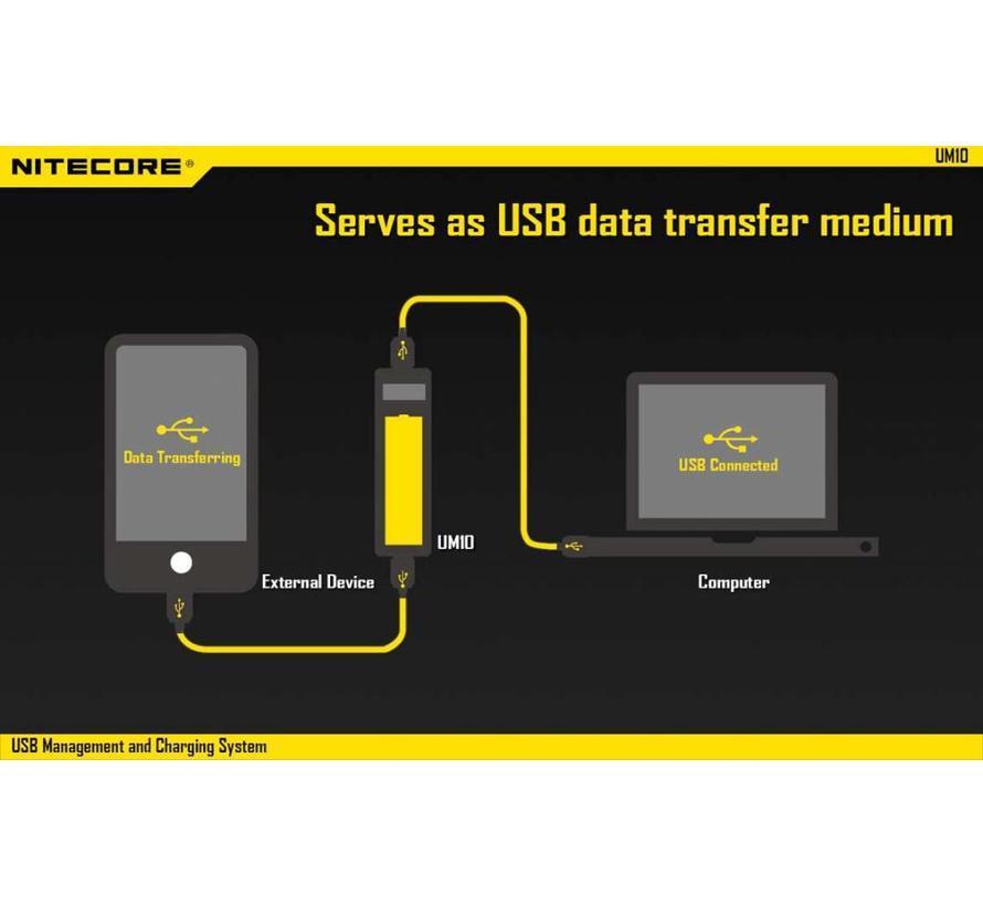 NiteCore UM10 USB Li-ion batterijlader