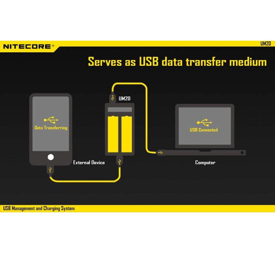 NiteCore UM20 USB Li-ion batterijlader