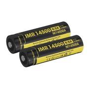 NiteCore NiteCore IMR 14500 Duo-Pack Li-ion oplaadbare batterij (3.7V 650mAh)