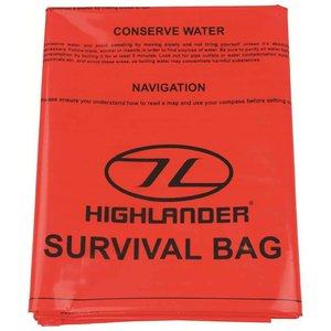Highlander Outdoor Emergency Survival Bivi Bag XL (2-persoons oranje overlevingszak)