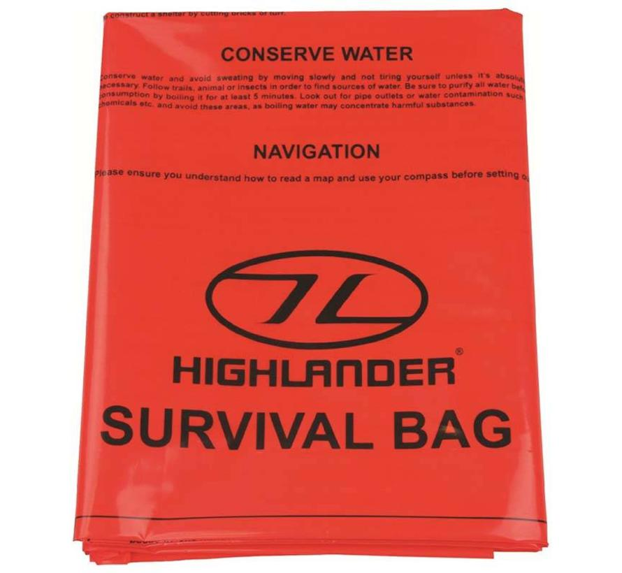 Emergency Survival Bivi Bag XL (2-persoons oranje overlevingszak)