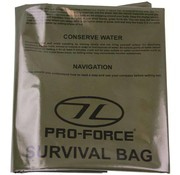 Highlander Outdoor Emergency Survival Bivi Bag (1-persoons legergroene overlevingszak)