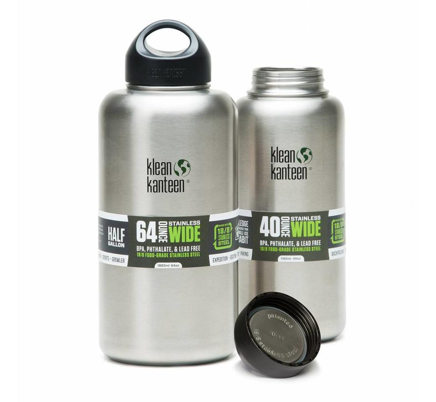 Klean Kanteen 1182ml / 40oz wijdhalsfles (RVS drinkfles - 1000592)