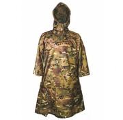 Pro-Force Poncho Adventure 200 x 145 cm (HMTC camouflage met capuchon - inzetbaar als tarp)