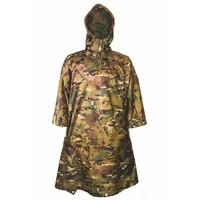 Poncho Adventure 200 x 145 cm (HMTC camouflage met capuchon - inzetbaar als tarp)