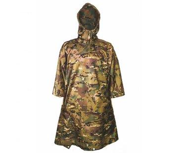 Highlander Outdoor Poncho Adventure 200 x 145 cm (HMTC camouflage met capuchon - inzetbaar als tarp)