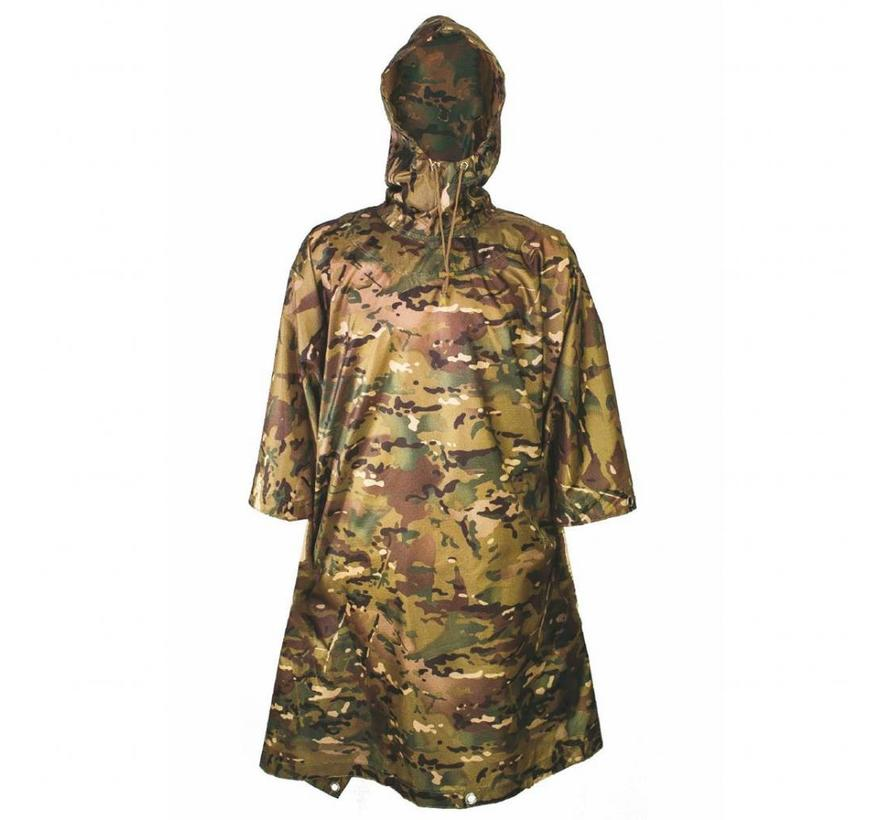 Pro-Force Hooded Adventure Poncho (HMTC camouflage - inzetbaar als tarp)