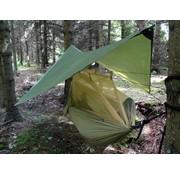 Highlander Outdoor Highlander Crusader Hammock hangmat-slaapsysteem met tarp (legergroen)