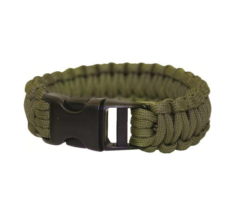 "Bushcraft Paracord Bracelet 9"", armband (olive green)"