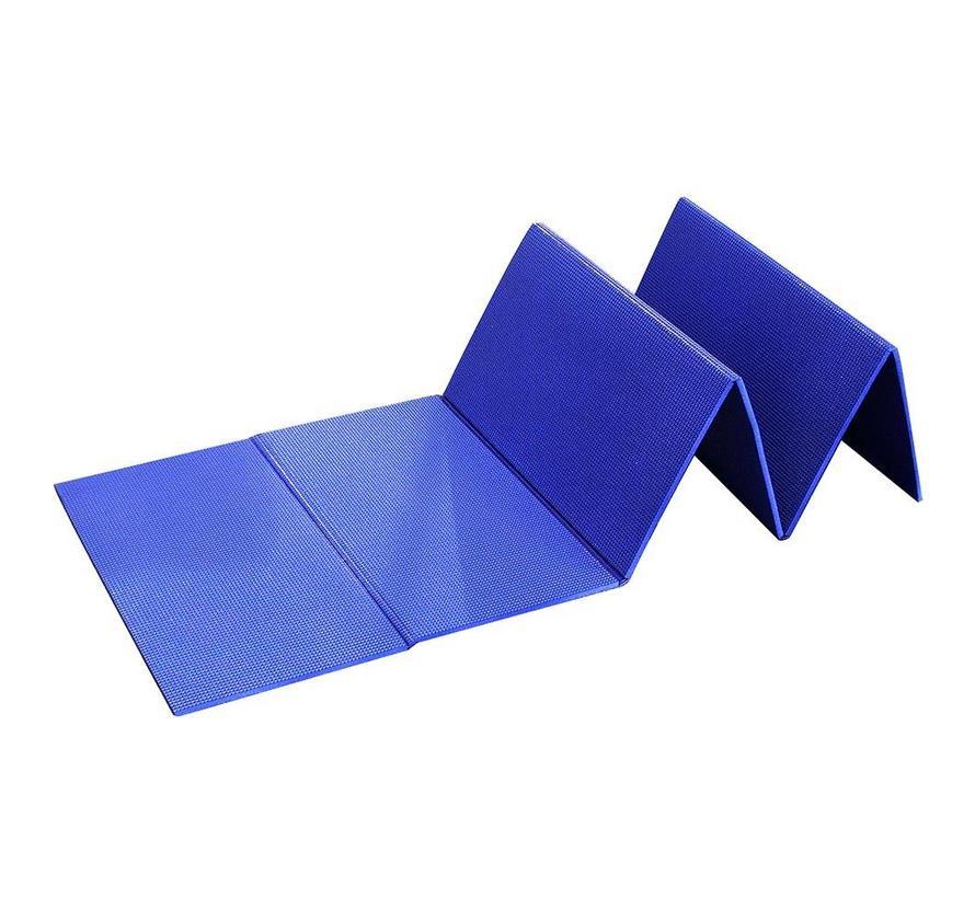 Isolatiemat opvouwbaar (slaapmat - blauw)